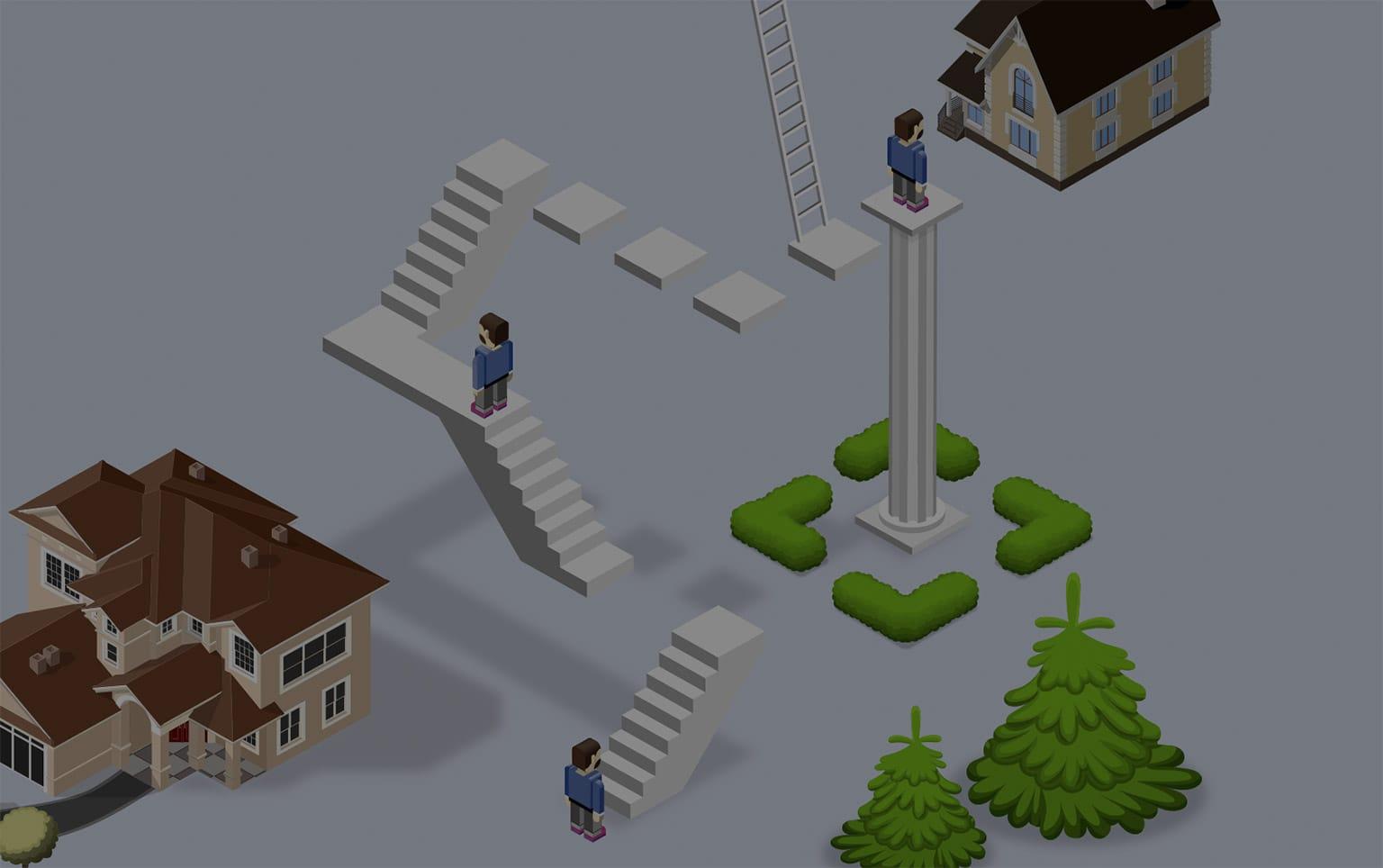 Property ladder. A quiz. Get on the ladder